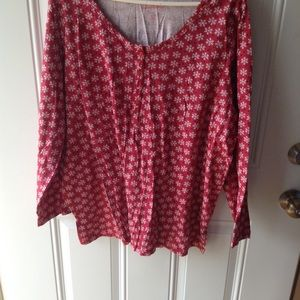 Cute Snowflake Pullover Top Size 1X (22/24)